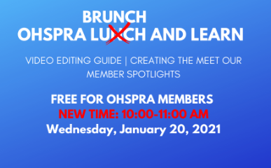 OHSPRA January Lunch and Learn